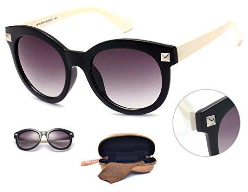Dasein Women's Fashion Polarized Wayfarer Sunglasses Eyewear with Studs Accent - - Cheap Wayfarer Shipping Free Sunglasses