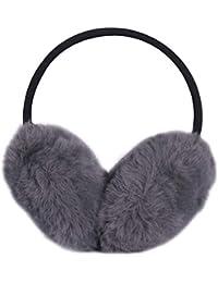 LILYFUR Ear Winter for Women, Ear Cover Earwarmers Fleece Earmuffs Earlap Ear Protection Cold Weather Head Warmer Winter Wrap Around Earwarmers, Dark Grey