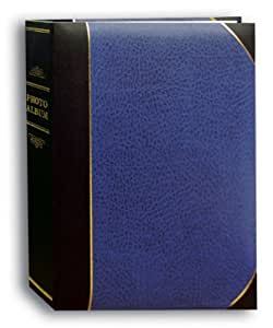 Pioneer Photo Albums 50-Pocket Navy Blue and Black Ledger Style Leatherette Cover Photo Album for 5 by 7-Inch Prints