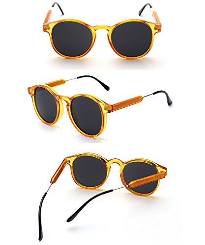 TOPSTARONLINE Vintage Polarized Arrow Style Sunglasses (Orange, 50) (Sonnenbrille-orange Lens)