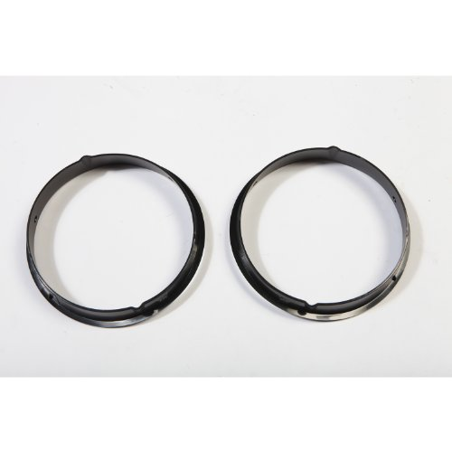 Rugged Ridge 12419.23 Black Headlight Bezel - Pair for 1997-2006 Jeep Wrangler TJ ()
