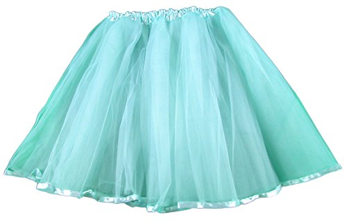 Hairbows Unlimited Adult & Teen Aqua Ribbon Lined Dance Tutu Skirt