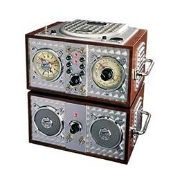 Spirit Of St Louis Wooden Alarm Clock CD Radio