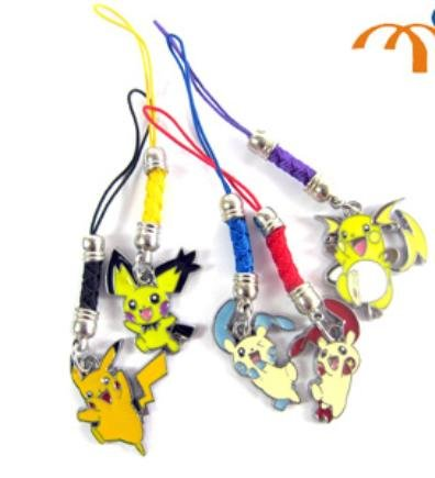 Pokemon Metal charm phone strap 5 pcs