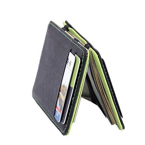 CATOP Magical Flip Credit Card Holder Case Bifold Purse Ultra Slim Minimalist Money Clip (Clip Money Flip)