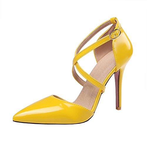 Amarillo Mujer Tira de Tobillo Agodor qCwgfIO6
