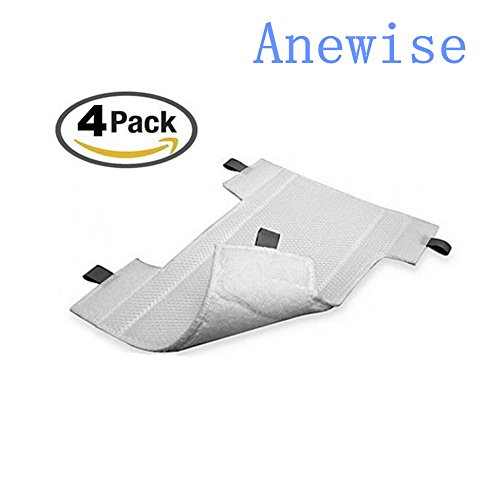 4Pack Anewise Pads For Shark Dust-away Advanced Micro-fiber Replacement Pads - Compatible with Rocket Dust-away, Rotator, Navigator Lift-away Pro Vacuum, Ultra Light Stick Vacuum, Hv300 Series