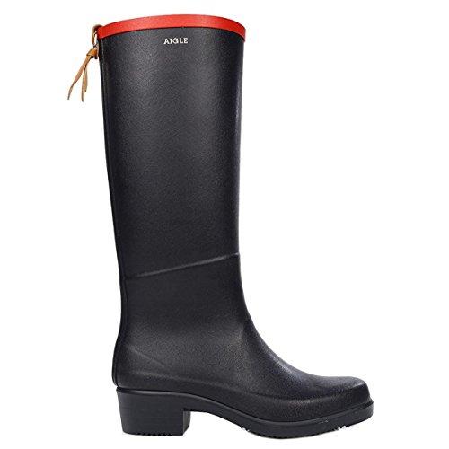 Aigle Womens Miss Juliette Ardoise Cherry Rubber Boots 39 EU (Rain Boot Cherry Womens)