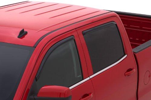 Auto Ventshade 194536 In-Channel Ventvisor  Window Deflector, 4 Piece for 2014-15 Chevy Silverado & GMC Sierra 1500/2500/3500 Crew Cab Pickups ONLY