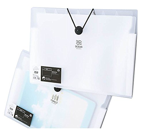 on Expanding File Folder 12 pockets, Letter Size Archival Organizer Waterproof Classification Document Folders, A4 Paper Size, Elastic Rope Closure S066 (transparent) ()