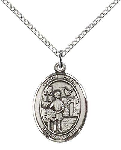(F A Dumont Sterling Silver St. Vitus Pendant with 18