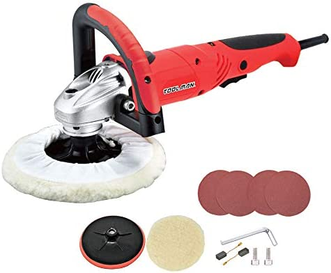 Toolman 7 7.5A Compact Polishing Buffer Waxer Sander 6 variable speed Machine W Wool pad sandpaper DB5903