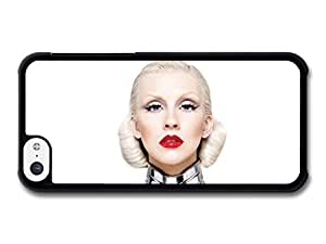 AMAF ? Accessories Christina Aguilera Red Lipstick White Background Portrait case for iPhone 5C wangjiang maoyi by lolosakes