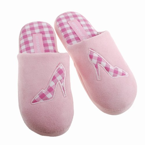 Colorfulworldstore Autumn and winter Men&women's Warm home cotton slippers-Embroidered pipe snow boots Women-Pink PhFKx1THK