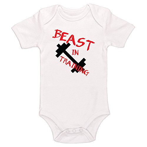 Starlight Baby Beast in Training Bodysuit (White, 3-6 Months)