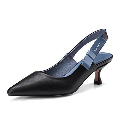 Femme SLC04014 Compensées Sandales Noir AdeeSu tR7xwEx