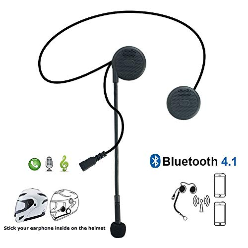 Meetou Motorcycle Helmet Headset Bluetooth Headphones with Microphone compatible for BMW Motorbike High Sound Quality System for Harley davidson (Best Motorcycle Helmet With Built In Speakers)
