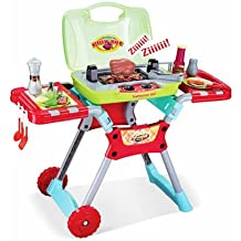 PowerTRC Deluxe Backyard BBQ Pretend Grill Playset with working Lights and Sound