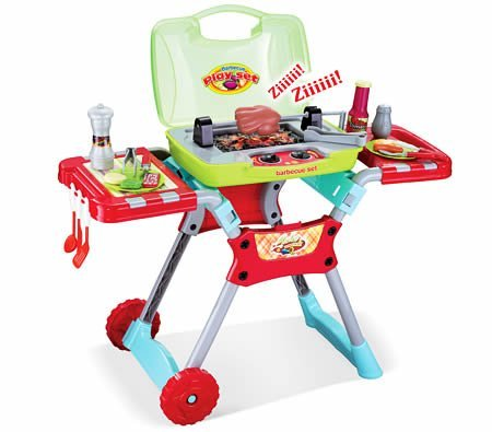 PowerTRC Backyard Barbeque Deluxe BBQ Grill Playset with Lights and Sound Portable Get Out 'N Grill Fun Adventure for Kids