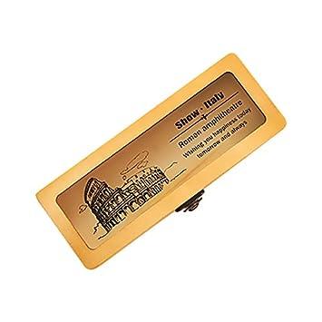 Zhi Jin 1pieza lápiz titular de la pluma de madera caso cajas caja de regalo organizador con ventana para adultos escuela viaje, color Colosseum: Amazon.es: ...