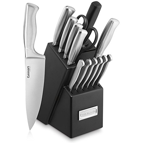Cuisinart 15-piece Stainless Steel Hollow Handle Cutlery Block Set (Certified Refurbished)
