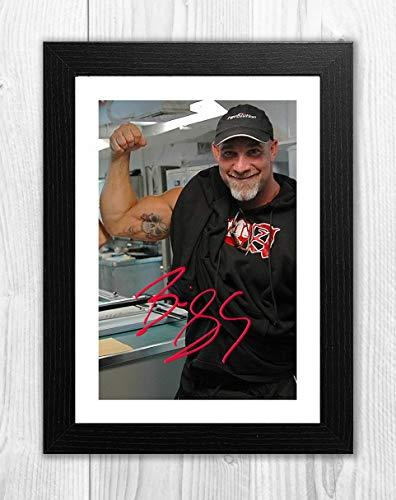 Engravia Digital Bill Goldberg WWE Reproduction Signed Poster Photo A4 PrintBlack Frame