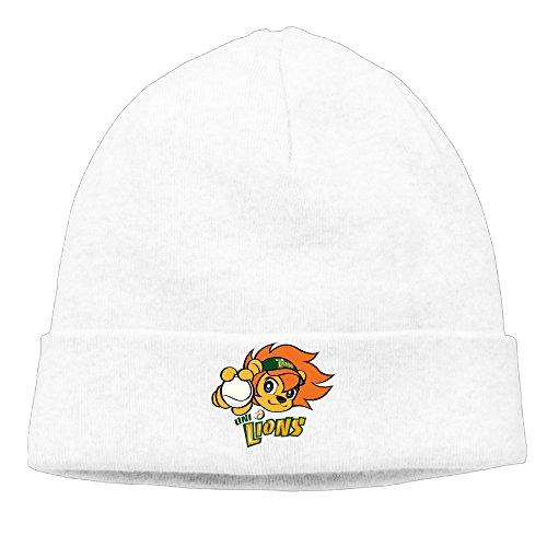 deto-menswomens-uni-president-7-eleven-lions-patch-beanie-skiingwhite-cap-hat