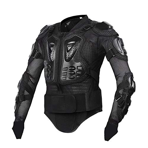 Motorcycle Jacket Men Full Body Armor Motocross Racing Protective Motorcycle Protection,Black,XL ()