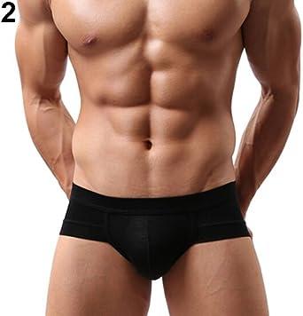 fashion men cotton underwear low-rise u convex design boxer briefs