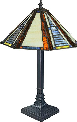 Leaded Glass Lamp - 17-1/2