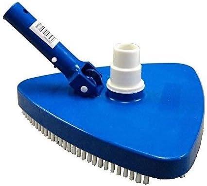 cepillo escoba aspirafango Limpieza piscina triangular de PVC appesantita con arena con spazzole| Azul |