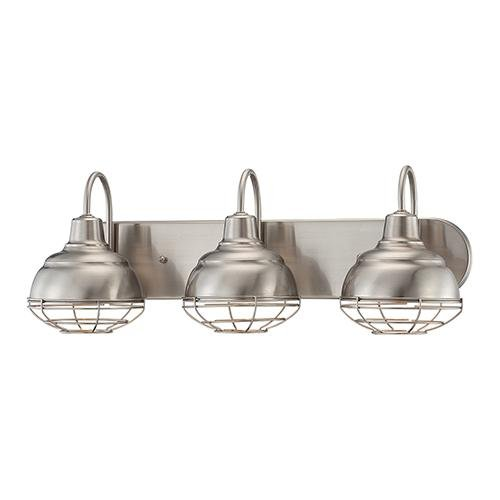industrial bathroom lighting. millennium lighting 5423sn vanity light fixture industrial bathroom