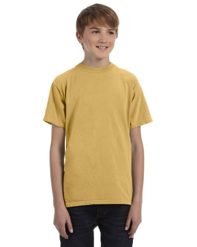 Authentic Pigment Youth 5.6 Oz. Ringspun T-Shirt, XS, Mustard