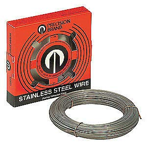 PRECISION BRAND 302 Stainless Steel Spring Wire .067 in, 84 Ft, 29067 by Precision Brand