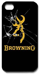 Browning Firearms Rifle Gun Shotgun Logo Hard Plastic iPhone 4 4s Case,Top iPhone 4 4s Case from Good luck to hjbrhga1544