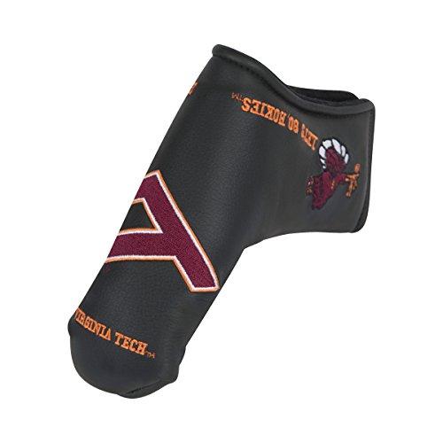 Team Effort Virginia Tech Hokies Black Blade Putter - Cover Tech Putter