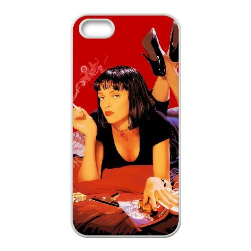 P2I40 Pulp Fiction K9N1BR coque iPhone 5 5s cellulaire cas de téléphone couvercle coque blanche DD2URN4GD