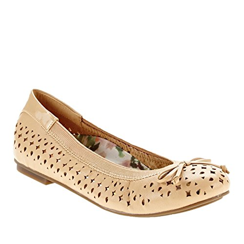 Vionic Womens 359 Surin Leather Shoes Nude