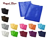 Aiking Home 2 Pieces of Colorful Shiny Satin King Size Pillow Cases, Royal