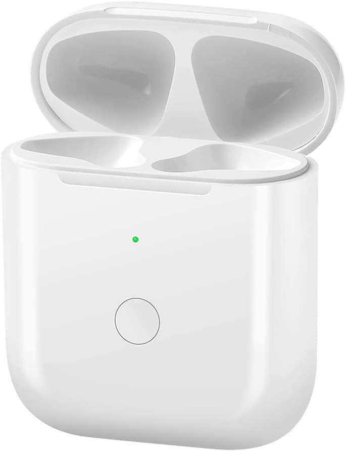 Charging Case for AirPod Charger Case with Bluetooth Button for Air Pods Pairing & Wireless Charging