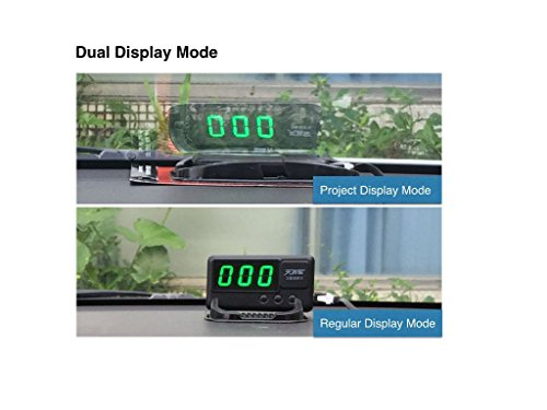 Oxygentle Universal Car HUD Head up Display GPS Speedometer with Overspeed Alarm Tired Driving Warning Windshield Project for All Vehicle