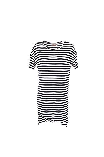 Maxi T-shirt Donna Censured M Bianco/blu Tw1961 T Jtf2 1/7 Primavera Estate 2017