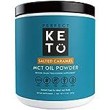 Perfekt Keto MCT Oil Powder: Salted Caramel Ketosis Supplement (Medium Chain Triglycerides, Coconuts) for Ketone Energy. Paleo Natural Non Dairy Ketogenic Keto Coffee Creamer