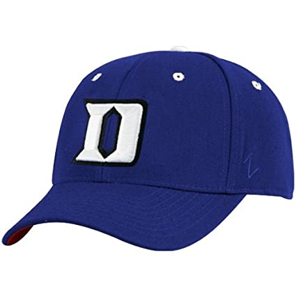 super popular 54ca7 0b128 Amazon.com   Zephyr Duke Blue Devils Royal Blue DH Fitted Hat W