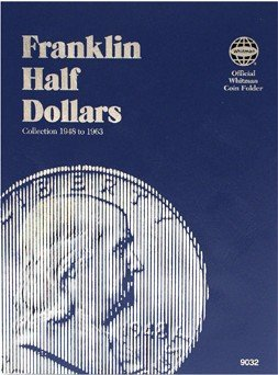 Whitman Coins Half Dollar Folder,Franklin,1948-63 WHC090329