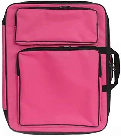 子供8 Kファッションかわいいダブルショルダーキャンバス防水ドローイングバッグ (色 : ピンク)