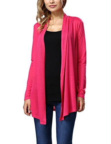 Autunno Camicia Cappotti Cute Outwear Rosa Classica Cardigan Donna Elegante Larghi Puro Top Vintage Manica Chic Casual Moda Colore Lungo Lunga xEB6q4Sw