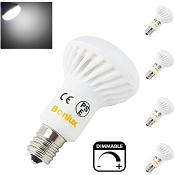 Intermediate Base Led Light Bulbs: Bonlux 4-pack Intermediate Base E17 Dimmable R14 LED Bulb 5 Watt Daylight  6000k 40W Incandescent R14 Flood Light Bulb LED Replacement,Lighting