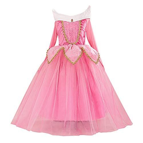 Eyekepper Sleeping Beauty Aurora Costume Birthday Party Dress Up 110cm]()