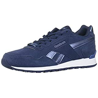 Reebok Men's Classic Harman Run Sneaker, Heritage Navy/WASH/WHITE, 14 M US